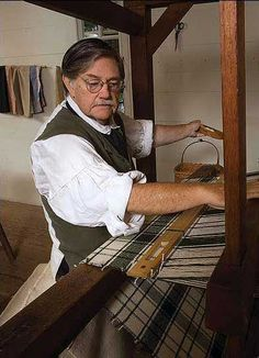 The cantilever loom, operated by Max Hamrick, Jr., was developed in 11th-century Spain.