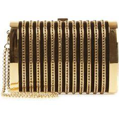 Seductress crystal embellished box clutch, Clutches, Harvey Nichols... ($1,665) via Polyvore