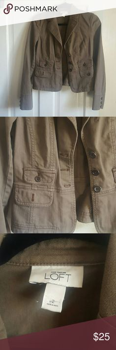 An Taylor LOFT Jacket Dress up or down very nice and elegant jacket. LOFT Jackets & Coats