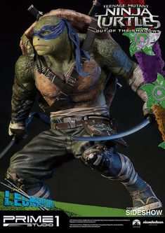 Prime 1 Studio is proud to present Leonardo from Teenage Mutant Ninja Turtles: Out of the Shadows. Wearing a blue bandana and wielding a pair of katanas, Leo firmly believes it's ninja duty to protect all people. Limited to just 750 pieces worldwide. Ninja Turtles Cartoon, Ninja Turtles 2, Teenage Mutant Ninja Turtles, Leonardo Tmnt, Turtle Love, 1, Shadows, Sideshow Collectibles, Studio
