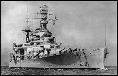 A fine view of HMS Repulse in her heyday.