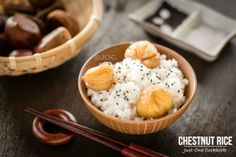 A traditional Japanese fall rice recipe, this aromatic chestnut rice with black sesame and a pinch of salt is perfect for fall evenings.