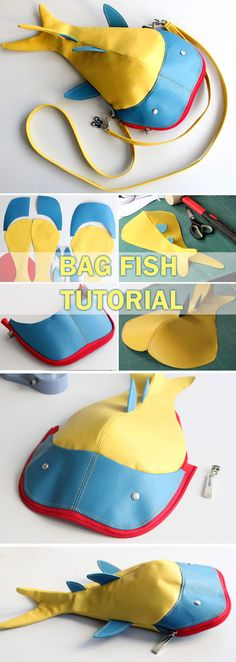 Sewing Patterns Diy Bag Fish Tutorial ~ How to sew for beginners. Step by step illustration tutorial. Mochila Tutorial, Pouch Tutorial, Diy Tutorial, Tutorial Sewing, Bag Sewing, Love Sewing, Sewing Hacks, Sewing Tutorials, Sewing Tips