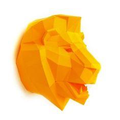animales papel 3D leon