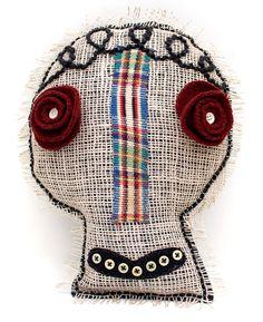OOAK skull pillow - Rose by Rawbone Studio, via Flickr
