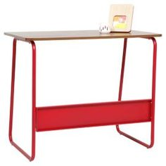 Dalston Desk, Red & Walnut only £50 from Tesco