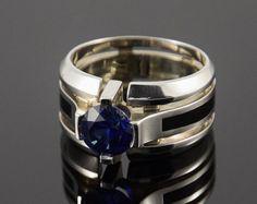 e4b6dd27e9d3 Signet anillo de plata hombres de anillo gitano por JewelryAsteria Hombres  Grandes