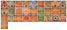 Milk coasters : vintage design