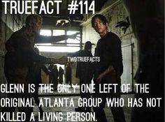 I hope it stays that way. Glenn seems to bring a level of humanity to the group. I love Glen