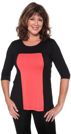 Tops for women over 40 50 60 that cover your arms. Standard & Plus sizes - Tina approved - soft fabrics - http://www.boomerinas.com/2013/07/18/micro-modal-tops-covered-perfectly-fits-women-over-50-60/