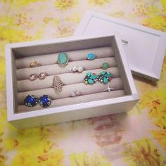 This earring box stores your rings, too! Now available for sale online | Stella & Dot