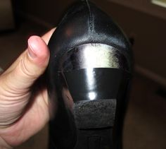 Electrical tape to fix scuffed heels.