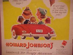 7690472b1a7 icollect247.com Online Vintage Antiques and Collectables - HOWARD JOHNSONS  FULL PAGE AD, 1951