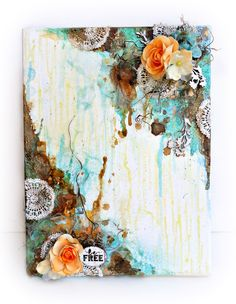 Prima DT- Pin Spin - Scrapbook.com - Prima sprays, florals, crochet, trims and more create a canvas masterpiece.