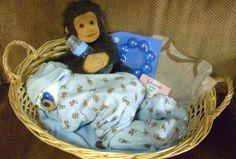 One of a kind baby shower gift. I make these with 25 diapers, one outfit, one passy, and one blanket. I aslo sell my pattern if anyone wants to know how I make them. When I make them in a basket insted of the bag, I can put more stuff in there. Baby Shower Gifts, Baby Gifts, Gifts For Expecting Parents, Purple Crayon, Baby Makes, Plastic Laundry Basket, Diaper Babies, Diy Crafts, Crafty