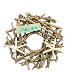 This 'Welcome' Starfish Wreath is perfect! #zulilyfinds
