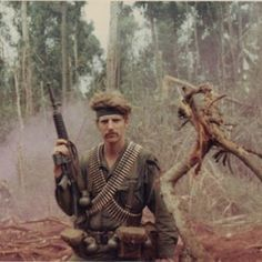 """Member of the famous squad called """" Deadly Delta """" was created out of B company with troopers from Cav and Cav .They operated in III Corps around Bien Hoa from FSB Grunt or Bunker Hill. Vietnam War Photos, North Vietnam, Green Beret, Military Pictures, Strange Photos, United States Army, American War, Vietnam Veterans, Cold War"""