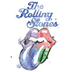 Watercolor Tongue von The Rolling Stones - T-Shirt jetzt im Rolling Stones Shop