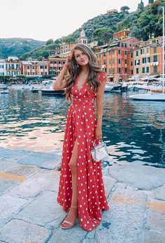 Best Honeymoon Destinations In 2019 For Unforgettable Moments ★ best honeymoon destinations girl in portofino cmcoving dress 70 Best Honeymoon Destinations In 2020 Honeymoon Dress, Honeymoon Style, Honeymoon Outfits, Vacation Outfits, Honeymoon Clothes, Maldives Honeymoon, Italy Honeymoon, Holiday Outfits, Summer Outfits