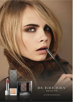 cara delevingne for burberry make up collection 2012