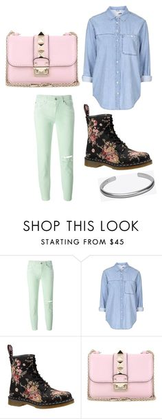 """""""Untitled #434"""" by missweasley-899 ❤ liked on Polyvore featuring 7 For All Mankind, Topshop, Dr. Martens, Valentino and Maison Margiela"""
