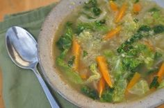 The large sweet onion in this recipe is sauteed for a long time and then garlic, ginger, and carrots are added. Once the water is added a beautiful, flavorful clear broth forms. Then with the addition of Herbamare, the flavors deepen. Complexity is formed when the quinoa and cabbage are dropped in. With the final touch of cilantro, you have a bright, colorful, and flavorful soup just waiting to help your cells and liver detoxify! ...