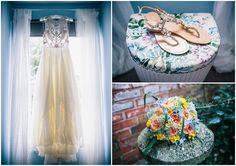 Melissa and Alex��s Bright and Beautiful Multicoloured Bohemian Wedding by Heart Full of Tea