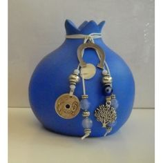 Lucky Charm, Pomegranate, Diy And Crafts, Christmas Crafts, Greek, Pottery, Charmed, Ceramics, Drop Earrings