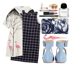 """""""Is this fooling anyone else?"""" by karllydolly ❤ liked on Polyvore featuring Vika Gazinskaya, Olive + Oak, Talbots, See by Chloé, NARS Cosmetics, Georgie and Jane Iredale"""