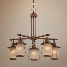 """Windmere 26 3/4"""" Wide Lantern Glass Chandelier"""