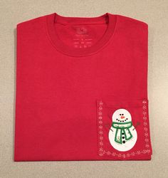 Snowman shirt for my granddaughter