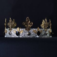 Mens Imperial Medieval Silver Gold King Crown Silver gold Mens crown male dolce crown king crown medieval Dolce Crown unique crown  Fantastic hair accessories for theather production, parties proms or other special occasions  - Metal, full round - Handmade - Size: 6cm (2.3) high. - Crown (full round) - **100% FULL MONEY BACK GUARANTEE** Unlike others sellers, WE STAND behind our brand ILoveCrowns and provide 100% FULL MONEY BACK guarantee, if, For Whatever Reason, You dont Absolutly Love…
