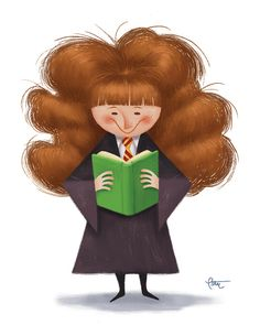 In honor of the 15th Anniversary of the first Harry Potter book.    Hermione Granger by peteremmerich on Etsy
