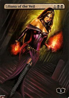 Liliana of the Veil MtG Alter by Black Wing Studio