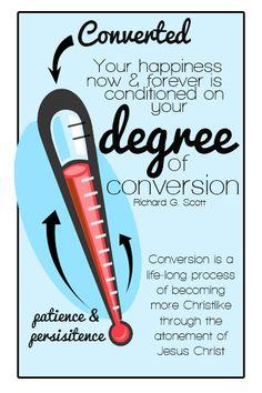 YW lesson help. Conversion. Free printables & power point. November 2014