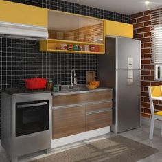 Cozinha Compacta Marina Western E Gold