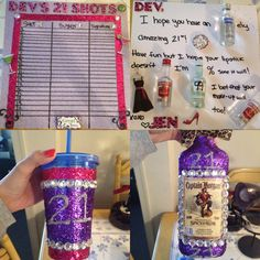 21st birthday gifts for girls, had so much fun making these with all the glitter and bling