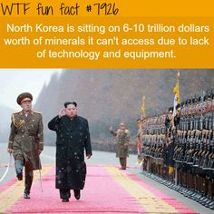 North Korea has 6 trillion dollars worth of minerals – WTF fun… – Talk Funny Jokes Wow Facts, Weird Facts, Random Facts, Crazy Facts, Uber Facts, Random Stuff, Funny Facts, Funny Jokes, What The Fact
