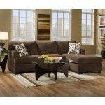 Simmons Upholstery - Caprice LAF Sofa and RAF Chaise Sectional - 6491-SEC