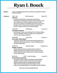 Carpenter Resume Templates Best Image Result For Consultant Resume Samples  Randomness  Pinterest