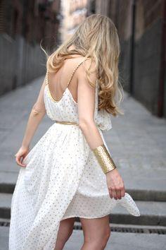 Grecian sparkle dress