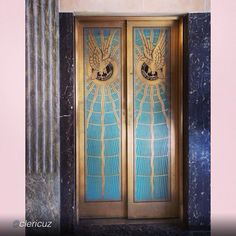 """Beautiful doors by @clericuz """"Art Deco elevator doors in lobby of Hinds County Courthouse, #Jackson, #Mississippi (USA), designed by Claude Lindsley, 1930."""" #south #theNobleSouth"""