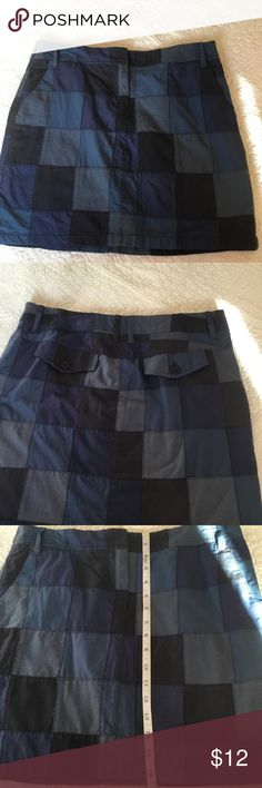 Ann Taylor Loft Skirt Cute Ann Taylor Skirt in different shades of blue. Size 4. A-37 Ann Taylor Skirts
