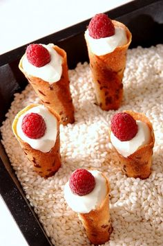 Inspired by Thomas Keller, these addictive amuse bouche cornets are filled with slightly sweet goat cheese/creme fraiche filling. Milk Recipes, Sweet Recipes, Dessert Recipes, Cornet Recipe, Thomas Keller, Gourmet Desserts, French Pastries, Food Waste, How Sweet Eats