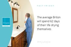 That's a long time drying yourself #randomfacts #myutopia