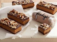 """Triple-Decker Peanut Butter Pretzel Fudge. """"With layers upon layers of ..."""