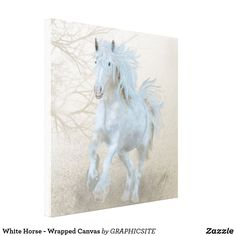 White Horse - Wrapped Canvas
