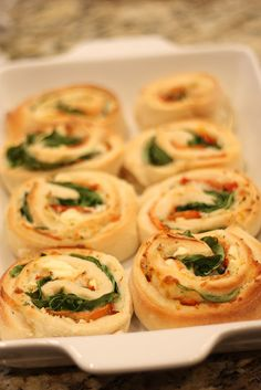 Spinach Pinwheels - recipe testing in the Shirley J Studio Test Kitchen (Christmas Hors D'oeuvres Class) by Shirley J - Cooking Made Easy Since 1978, via Flickr