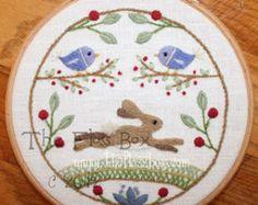 Kit y ovejas la lana para bordar bordado patrón por Theflossbox