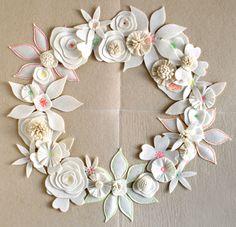 Free Felt Patterns and Tutorials: Felt Flower Wreath Free Pattern
